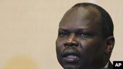 南蘇丹首席談判代表阿馬姆(資料圖片)