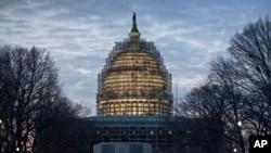 Điện Capitol ở Washington sáng sớm ngày 12/1/2016, ngày Tổng thống Obama đọc Thông điệp Liên bang cuối cùng trước Quốc hội.