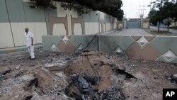 Shambulizi la anga la Nato katika eneo la Moammar Gadhafi.