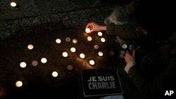 Skup podrške francuskom satiričnom listu Šarli Ebdo.