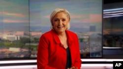 La présidente du parti français d'extrême droite Front national, Marine Le Pen, à Paris18 mai 2017.