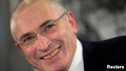 Mikhail Khodorkovsky, freed a year ago after serving prison time for financial crimes, ran oil giant Yukos before it was broken up and nationalized a decade ago.