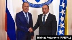 Sastanak ministara vanjskih poslova Rusije i BiH, Sergeja Lavrova i Igora Crnadka, Sarajevo, 21. septembar 2018.