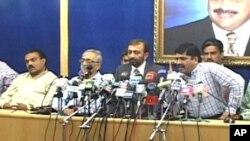 فاروق ستار نے حکومتی اتحاد سے علیحدگی کا اعلان ایک پریس کانفرنس میں کیا