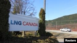 Antre sit pwojè Shell LNG a nan Kanada ki nan Nòdwès Koloni Birtanik la. Foto 12 Aavril 2014.