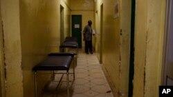 Empty hospital beds inside the Yalgado Hospital during a strike by health workers in Ouagadougou, Burkina Faso, Nov. 24, 2016.
