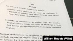 Alice Mabota e Hélder Proença viram processos refutados