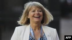Harriett Baldwin arrive à une réunion ministérielle des Nations Unies sur le maintien de la paix, à Londres, le 8 septembre 2016.