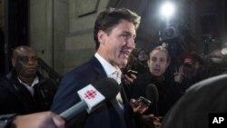 Le premier ministre du Canada, Justin Trudeau, en Ontario, le 30 septembre 2018.