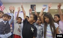Navajo class at Indian Wells Elementary School