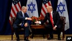 آقای ترامپ و نتانیاهو در حاشیه نشست سازمان ملل دیدار کردند.