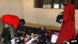 Ruangan kelas sekolah guru di Kano, Nigeria pasca serangan Rabu (17/9).