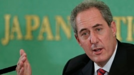 FILE - U.S. Trade Representative Michael Froman speaks during a press conference at the Japan National Press Club in Tokyo, Aug. 19, 2013.