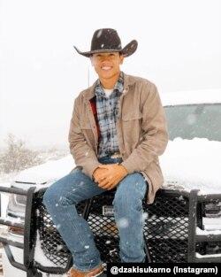 Dzaki mengambil jurusan bisnis pertanian di New Mexico State University.