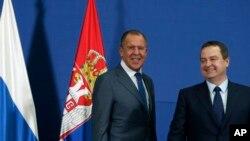 Ministar spoljnih poslova Rusije Sergej Lavrov i šef srpske diplomatije Ivica Dačić u Beogradu.