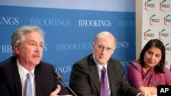 U.S. Secretary of State William Burns delivers remarks at The Brookings Institute