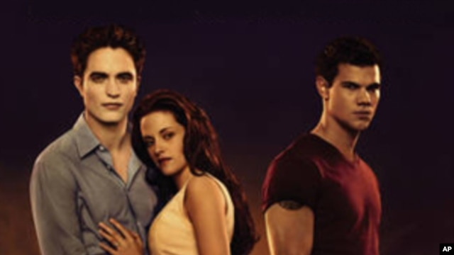 "The lead characters in the ""Twilight Saga,"" (from left) Edward, Bella and Jacob."