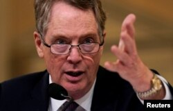FILE PHOTO: U.S. Trade Representative Robert Lighthizer testifies at a House Ways and Means Committee on U.S.-China trade in Washington, Feb. 27, 2019.