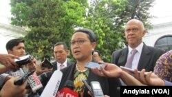Menteri Luar Negeri Retno Marsudi di Istana Negara, Jakarta (24/11).