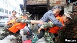 Typhoon Fitow Slams Into China