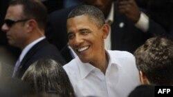 Барак Обама среди студентов