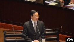台湾行政院长江宜桦(美国之音申华拍摄)