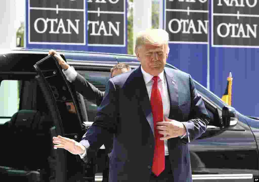 پرزیدنت دونالد ترامپ صبح چهارشنبه در مقر ناتو در شمال شرقی شهر بروکسل حضور یافت. اولین برنامه او دیدار و صبحانه کاری با دبیرکل ناتو است.