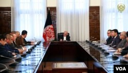 O'zbek va turkman faollar Prezident Ashraf G'ani bilan muloqotda