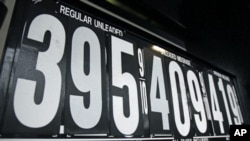 Gasoline prices are displayed on a pump at a filling station on the Palisades Interstate Parkway in Orangeburg, New York, March 7, 2011