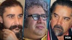 از راست: رضا خندان مهابادی، بکتاش آبتین، و کیوان باژن