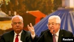 Palestinski predsednik Mahmud Abas govori u Ramali