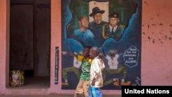 Imagem de crianças no Estado de Adamawa, nordeste da Nigéria.