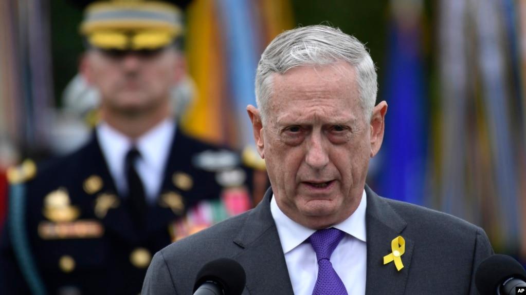 Bộ trưởng Quốc phòng Mỹ Jim Mattis, 21/09/2018.