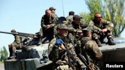 Abasilikari ba Ukraine baryamiye amajanja mu mujyi wa Mariupol mu burasirazuba bw'igihugu.