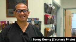 Dr. Sonny Duong, in his dental office at the Community Health Center in Fredericksburg, VA.