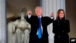 Presidente americano, Donald Trump, e primeira-dama americana, Melania Trump