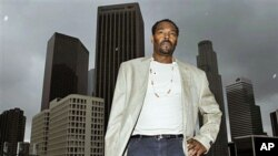 Rodney King poses for a portrait in Los Angeles, April 13, 2012. The acquittal of four police officers in the videotaped beating of King sparked rioting that spread across the city and into neighboring suburbs, leaving cars demolished, homes and businesse