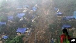 Tanah longsor di Jawa Barat. (Foto: Dok)