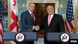 Госсекретарь США Майк Помпео и премьер-министр Грузии Мамука Бахтадзе. Вашингтон. 11 июня 2019 г.