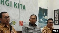 Pembahasan peningkatan tenaga listrik Indonesia. (VOA/Iris Gera)