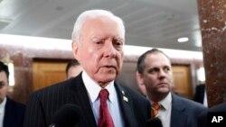 오린 해치 미 공화당 상원의원. 24일 북한 수용소 철폐를 촉구하는 결의안을 발의했다.