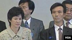 북한에서 일본으로 송환된 후 기자회견을 가졌던 일본인 납북 피해자들. (자료 사진)