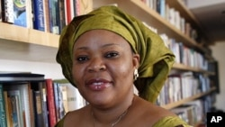 Liberian Nobel Peace Laureate Leymah Gbowee in New York, October 7, 2011.