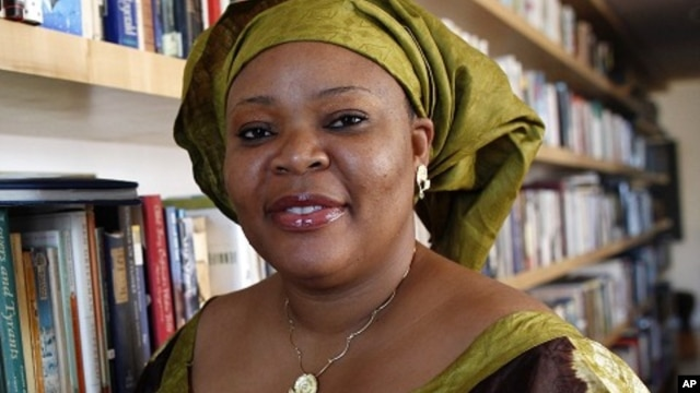 Nobel Peace Prize winner Leymah Gbowee poses in New York October 7, 2011.