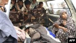 Пострадавшие от выстрелов американского солдата в Кандагаре