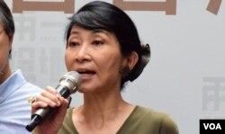 香港一地兩檢關注組成員毛孟靜。(美國之音湯惠芸)