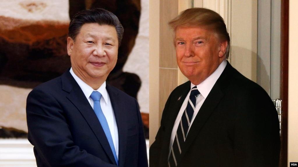 中国国家主席习近平和美国总统川普(资料图)