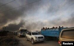 چونسٹھ ہزار افراد علاقہ چھوڑ کر جا چکے ہیں۔