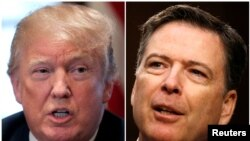 Tổng thống Mỹ Donald Trump và cựu giám đốc FBI James Comey.