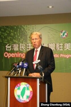 美国在台协会主席薄瑞光。(照片来源:美国之音 钟辰芳)